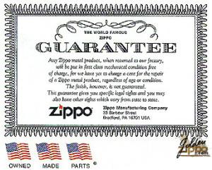 La garantie à vie Zippo